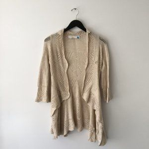 Anthropologie Sparrow Knit Open Front Cardigan